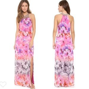 Charlie Jade AVA watercolor Floral Maxi Dress